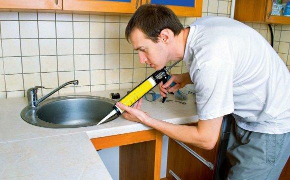 Герметизация кухонной раковины